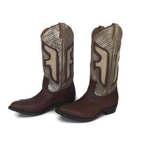 NWOB Frye Cowboy Cowgirl Western Boots Cognac 9.5